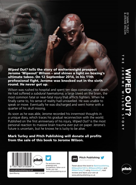 "Back of Jerome WIlson Book ""Wiped Out"""