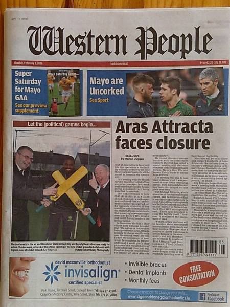 Western People Front Page IJ